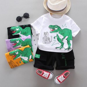 Kids Clothes Clothing Boy Cute Printing Dinosaur T-shirt + Shorts 2 Pcs Set Clothing Boys Tracksuit Children Baby Clothes