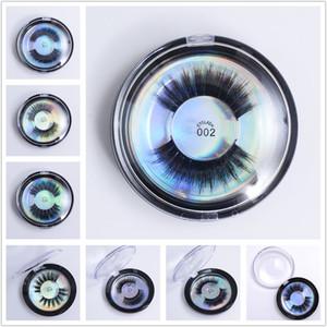 28 Stiller 3D İpek Proteini Vizon Yanlış Eyelashes Yumuşak Doğal Kalın Sahte Kirpikleri Göz Lashes Lashes yuvarlak kutu DHL azade ile