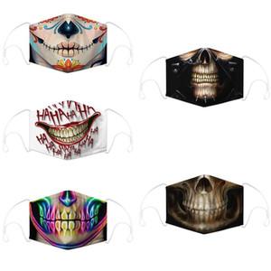 crânio máscara facial esportes ao ar livre Dia das Bruxas partido role-playing mascarar reutilizável quente à prova de poeira à prova de vento máscara do partido algodão