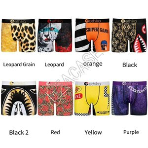 Quick-dry Panties Man Designers Clothes 2020 Underwear Swim Long Boxer Briefs Shark Cartoon Beach Shorts Pants Underpants 32 Styles D81705