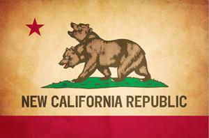 Nouvelle République de la Californie Drapeau 3x5FT 90x150cm Drapeau de Home Décor Polyester Décoration