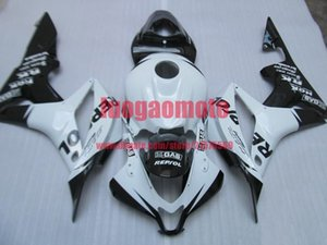 Gift Injection fairings kits for blk white Honda CBR600RR F5 fairing set 07 08 CBR 600 RR 2007 2008 motorcycle bodywork cowlings parts