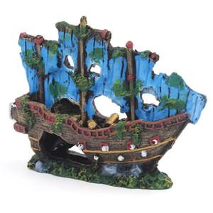 Landscape Small Home Decor Accessories House Simulation Aquarium Plant Fish Tank Ornament Resin Ship