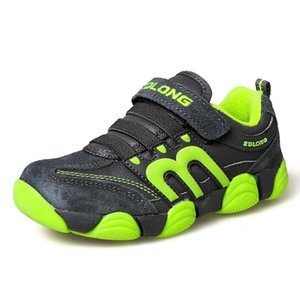 Children Sneakers Sports Walking Shoes for Boys Girls 2020 Autumn Winter Cow Leather Shoes 25-37 Tank Sneakers Kids