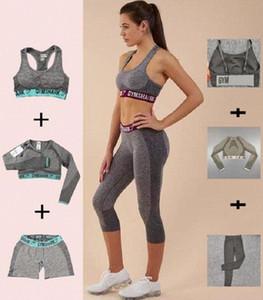 Womens Designer Grils Yoga Costume manches longues Pantalons Shorts Bra Bust Sportwear Survêtements Fitness Jumpsuit Vêtements de sport Gymshark Imprimer L ao9t #