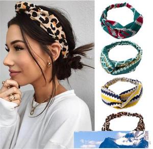 Fashion Bohemia Print Flower Knot Women Headband Turban Elastic Hairband Girls Headwear Lady Elegant Hair Accessories Head Wrap T418
