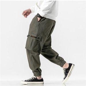Mens casuali Jogger pantaloni del progettista del Mens Cargo Pants lusso di modo di formato più coulisse caviglia Banded Pants