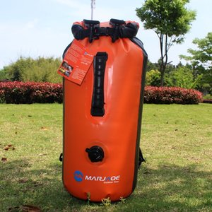 barrel MARJAQE double shoulder with inflatable waterproof bag air nozzle inflatable double waterproof backstream bag