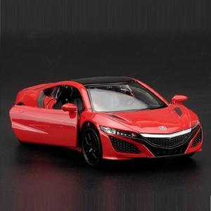 Yüksek Simülasyon Nefis DiecastsToy Araçları: RMZ şehir Şekillendirme Honda Acura NSX Supercar 01:36 Alaşım Diecast Model Oyuncak Araba