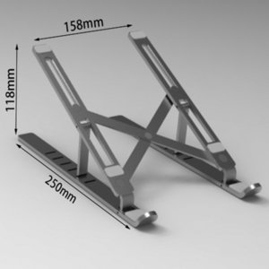 Laptop Stand Nulaxy, ordenador portátil portátiles Monte, aluminio Riser portátil con 6 niveles de ajuste de altura, totalmente plegable, soporta hasta t