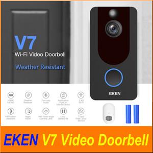 는 Eken V7 1080P 스마트 무선 비디오 초인종 카메라 비주얼 인터폰 차임 밤 비전 IP 도어 벨 무선 홈 보안 카메라
