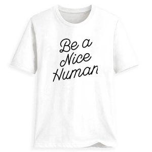 2020 Мода тройников Be A Nice Human Корейский Одежда O-Шея Streetwear Made In China Страна Flag Lover Streetwear