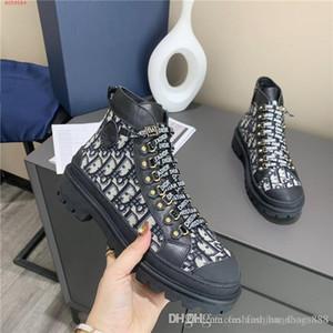 Street Style Sport Stivali caviglia per uomini e donne, piattaforma dei bottini del cuoio di stampa stivali Sneaker alta Con scatola originale