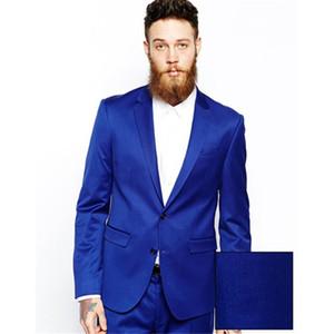 2020 Royal Blue Hot Sale Notch Lapel Tuxedos Fashion Custume Made Mens Suits slim Latest Design Terno Masculino men suit Blazer