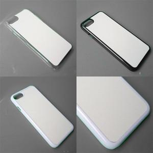 Phone 8 Plus Case 2D PC Heat Transfer Blank Cover Aluminum Sheet Hard Shell Customized DIY Sleeve Sublimation Blanks 3 2tn B2