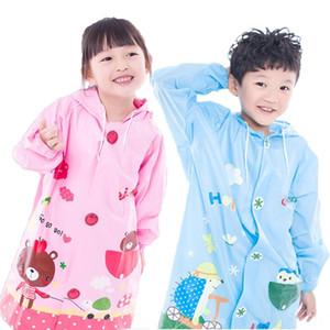 jzkTl all'orlo cartone animato Cloak Bag mantello bambino cloakstyle bambini poncho con gonfiabile boysraincoat coreano con la cartella poncho