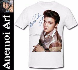 T493 Firmato Firma T shirt Elvis Presley Immagine Autograph Tee T-shirt