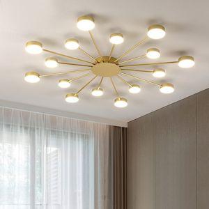 LED Candelabro para sala de estar quartos casa Chandelier Preto / Ouro Modern Led teto luzes Chandelier Lamp Iluminação Luminárias
