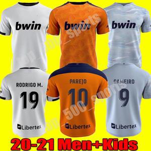 Hombres hijos 20 21 Valencia CF Fútbol jerseys RODRIGO 20 21 PAREJO GAMEIRO camiseta de fútbol GUEDES C.SOLER camiseta de futbol uniformes