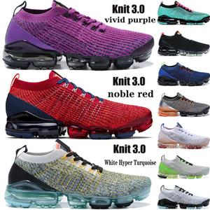 Yeni Örgü 3,0 koşu ayakkabıları erkekler kadınlar canlı mor güney plaj asil kırmızı Beyaz Hiper Turkuaz siyah çoklu sinek erkek spor ayakkabısı