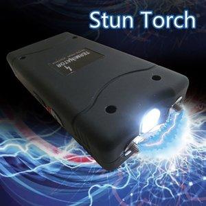 Мини Портативный мощный Самооборона факел черный Электроудара Фонарь защитить себя