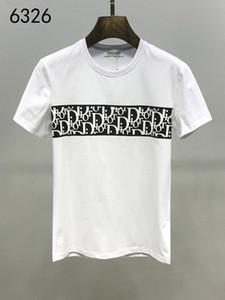 Camiseta de las Bermudas Europeo de impresión de hip-hop x5 Los hombres de manga corta camiseta de la medusa del verano del nuevo bordado alrededor del cuello de la camisa de los hombres del algodón