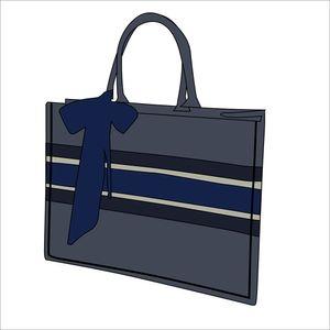 Designer 33cm Top Blue Shopping Bag Casual Tote Bag 2020 Fashion Classic Women Wallet Canvas Handbag Shopping Bag Batch
