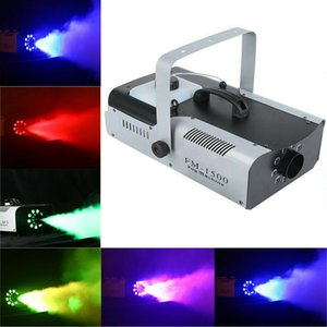 Multifunction 1500W Smoke Fog Machine 9 LED Lights Remote Control DJ Party Stage Fogger Lights free shipping