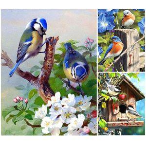 5D DIY Алмазной Картины Full Square Birds Icon Cross Stitch Kit Алмазной Вышивка Животные Мозаика Изображение Стразы Декор