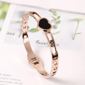 Nouvelle arrivée 316L en or rose Bracelet en acier inoxydable pour cristaux femmes Bangle meilleur bijoux à la mode cadeau