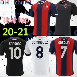 THAILANDE 20 21 BOLOGNA FC 1909 maillot de football HOME Orsolini 20 21 Maglie da calcio Sansone Dominguez Tomiyasu Soriano Barrow chemises de football