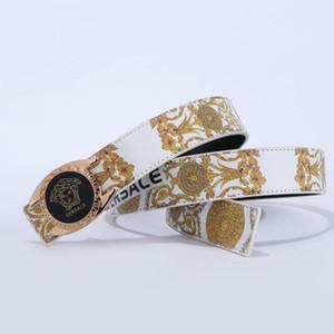 La más vendida de nuevo ceinture correa de cuero de la manera ocasional clásica comercial de la medusa de la correa de la marca para los hombres y mujeres de la correa de la mezclilla diseñadores