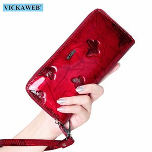 VICKAWEB Wristlet Wallet Female Animal Prints Women Wallets Genuine Leather Purses Ladies Fashion Zipper Purse Standard Wallets Wholes FT14#