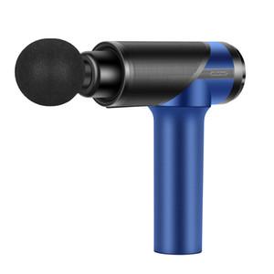 Min Electric Muscle Massage Gun Shockwave Therapy Machine Fascia Massage Gun Vibro Shape Fitness Equipment Tool