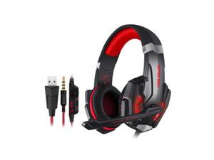 G9000 Stereo Gaming Headset para PS4, PC, Xbox One Controller, Noise Ear Headphones Cancelamento mais com Mic, Baixo Surround, Luz LED para La