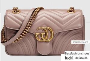 Marmont Matelass Bag 443497 Shows ombro mulheres Totes Bolsas Handles Corpo Cruz Messenger Bags