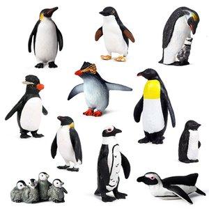 Modelado de simulación múltiple Figura de Colección Pingüino Animal Action Figures niños juguetes de plástico blando