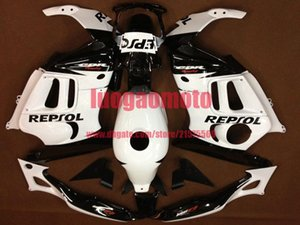 Gifts ABS injection Motorcycle cowling white and black bodywork fairings kit for Honda CBR600 1997 1998 CBR 600 F3 97 98 fairing kit+Tank