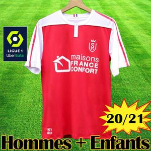 20 21 Stade MAILLOT de football Reims Disasi Cafaro KONAN DIA Foket CHAVALERIN Zeneli 2020 2021 Hommes Enfants Maillots de foot Maillot