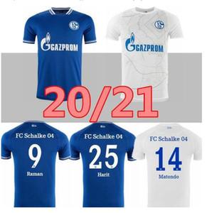 2021 2020 FC Schalke 04 Футбольные трикотажки 20/21 Maillot de Feps Serdar Mckennie Caligiuri Embolo Bentaleb Burgstaller Футбол Футбольные рубашки