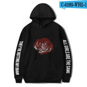 Men Women Hoodie Cross-border Hot Spot for New American Singer Juice Wrld Printing Fashion for Mens and Womens Loose Hooded Sweater