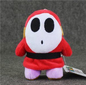 14 centímetros Ceia Mario Shy Guy Plush brinquedo macio Plush Stuffed Toys Boneca com ventosa para Crianças Presente de Natal Safty livre envio EMS