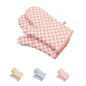 Oven Mitt and Heat Resistant Pot Holder Pad Protective Oven Gloves for Kitchen Gadgets 28 x 15cm ST13