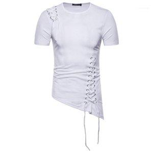 Tops Mens Designer Mens Design Fashion Braid Fit Irregular Design Male Spring T Slim Shoulder Shirts Clothing Owhia
