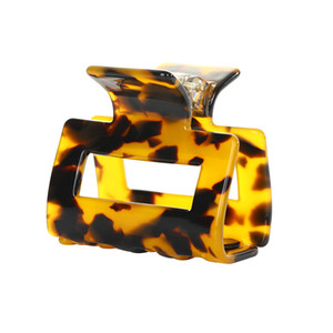 Fashion women eight colors clamps Leopard amber hight quality designer hair accessories of girls lucite alloy clamps
