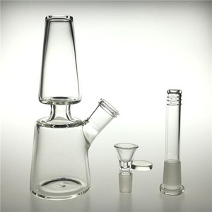 Novo 7 polegadas de vidro de vidro Bongs Dab equipamento com 14mm feminino doountstem 14mm tigela de vidro espessa reciclador beaker bong para água fumando 2020 FY2308