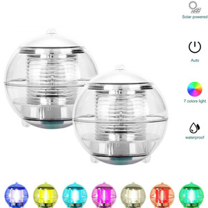 Garden Outdoor Waterproof Hanging Ball Light Swimming Pool Pond Color Changing Pool Decoration Light Led Solar Floating Lamp