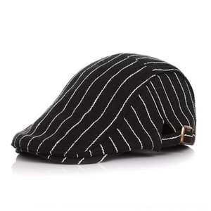 South striped Spring and Autumn cap cap Beret Children's classic car children's China beret hat baby duck tongue hat ojaG0