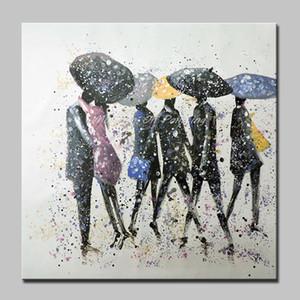 Arthyx Art Ручная роспись абстрактная фигура Картины маслом на холсте Modern Wall Art Picture For Living Room Домашнее украшение без рамки
