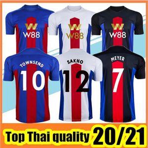 20 21 Crystal Palace Maillots de football Zaha MILIVOJEVIC TOWNSEND SAKHO Benteke Batshuayi 2020 2021 kits Cristal Football Palais des uniformes